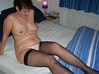 Oma privat nackt